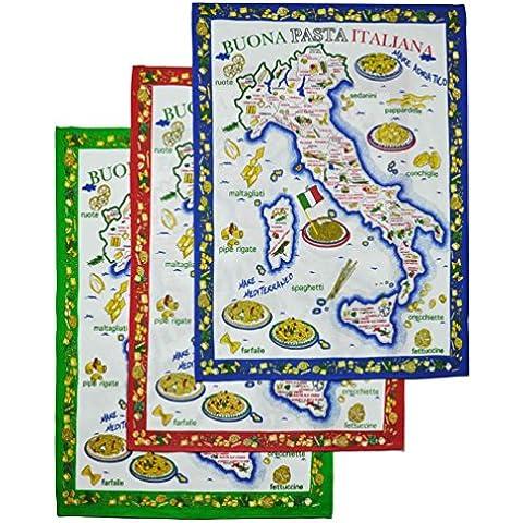 *Strofinaccio Pasta Italia cm 60x80 set da 3 pz