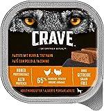 Crave Grainfree Getreidefreies Hundefutter Nassfutter Adult 1+ Mit Huhn und Truthahn in Pastete, 10 Schalen (10 x 300g)