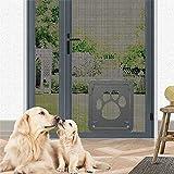 """14"""" x 16"""" Dog Cat Door,Pet Flap Screen Door Security Window Sliding Door Flexible Durable Easy Installation for Dogs Cats"""
