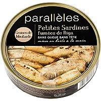Parallèles Petites sardines fumées de Riga à l'huile et aux graines de moutarde La boite de 160g - Prix Unitaire...