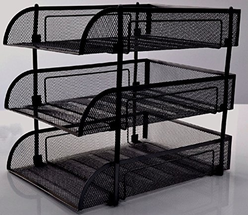 shine-3-tiers-black-mesh-filling-front-load-letter-paper-storage-tray-organizer-home-office-use