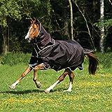 Horseware Rambo Duo Turnout 100g (Ganzjahresdecke) 2 in 1 Decke, mit Halsteil und 300g Liner- chocolate/cream, Groesse:115