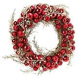Kasandria® Dekokranz Christmas Rot