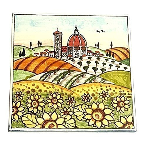 ceramiche-darte-parrini-italian-ceramics-artistic-tile-decoration-landscape-sunflowers-handmade-made