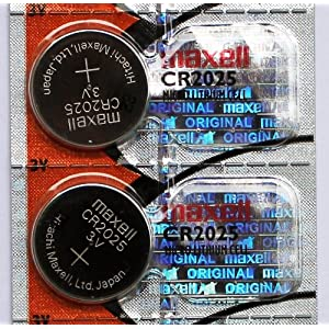 2PC Maxell CR2025 2025 Lithium 3 V Knopfzelle – Made in Japan