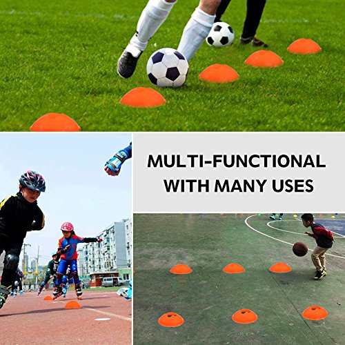 Speed Agility Training Ladder Kit--12 Adjustable Flat Rungs and 10 Cones with Carry Handle--for Football Soccer Skate