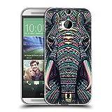 Head Case Designs Elefant Aztekische Tiergesichter 2 Soft Gel Hülle für HTC One M8 / M8 Dual SIM