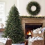Balsam Hill Kanadische Blautanne Künstlicher Weihnachtsbaum, 180 cm, weiße LED-Leuchten