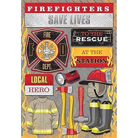 Pompiere cartoncini adesivi 5,5