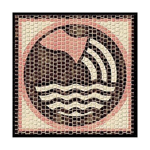 CUIT Cocido-2202-Mosaico-Horoscope Aquariens-20 x 20 cm