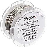 RAYHER HOBBY 24079000 Roestvrij stalen draad, modelleerdraad, 0,5 mm ø, spoel 10 m, voor het knutselen en modelleren van sier