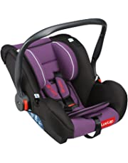 LuvLap Infant Baby Car Seat Cum Carry Cot and Rocker with Canopy (Purple)