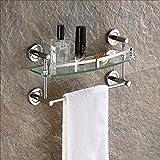 Badezimmer-Gestell / ausgeglichenes Glas-Regal-Wand, Badablage ( größe : 30cm )