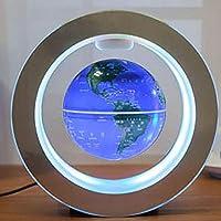Magnetic Levitation Floating Globe Weltkarte mit LED-Lichtern, 10,5 cm,Blue