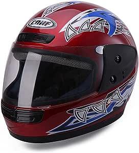 Prom-near Motorradhelm Integralhelm Fullface Helm Motorrad-Helm Roller-Helm Helmet bequem Schlagfestigkeit Anti Fog Helm F/ür Damen Herren Erwachsene