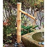 Bambus Accents Wasserbrunnen-Auslauf, 91,4 cm hoch, inkl. Tauchpumpe für einfache Installation in Teichen oder Zen Garten, handgefertigt, natürlich, splitresistenter Bambus