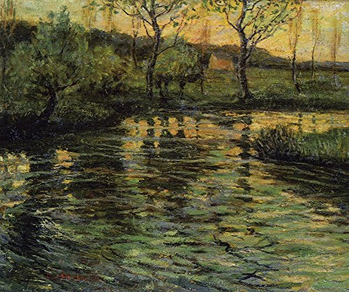 Das Museum Outlet-Conneticut River Scene, 1920, gespannte Leinwand Galerie verpackt. 29,7x 41,9cm