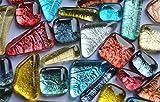 100g Soft Glas Mosaiksteine unregelm. auffällige