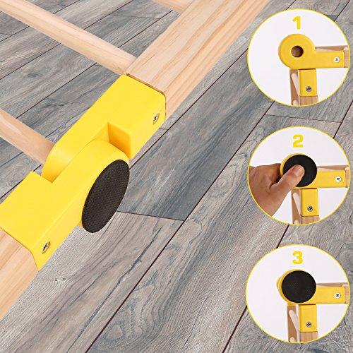KIDUKU® 7,2 Meter Laufgitter XXL klappbar inkl. Tür, bestehend aus 8 Elementen, individuell formbar Laufstall Absperrgitter - 6
