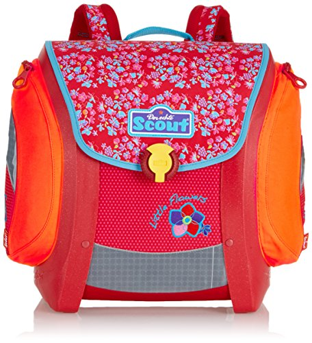 Scout Schulranzen-Set Basic Mega Set 1 5 tlg Little Flowers 97 cm Rot 70500729000 - 2