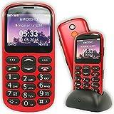 Mobiho-Essentiel le CLASSIC GPS rouge, Un téléphone avec gps pour senior - Possibilité d'avoir la position GPS de l'utilisateur à distance - Avec un très grand écran et très lisible, il conviendra à un sénior qui peut avoir des problèmes visuels - Débloqué tous opérateurs toute carte SIM.