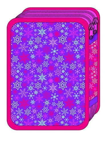 Vamos-056143-Plumier Doble con diseño de Frozen, el Reino del Hielo, 31 Piezas
