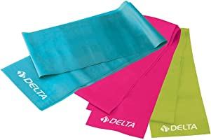 Delta Elite Deluxe Pilates Egzersiz Bandı, 3'lü
