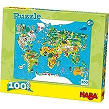 Puzzle de mapa del mundo (puede no estar en español), 100 piezas, tamaño XXL