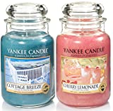 'Yankee Candle–Set di 2barattoli di grandi dimensioni–Classic Signature Cherry Lemonade & Cottage Breeze