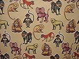 Pandoras DIN A4, Tier, Affe, ideal für Vorhänge, Kissen,