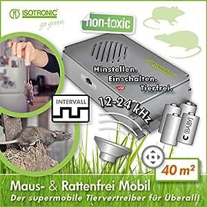 isotronic m useabwehr ultraschall ratten und m usevertreiber mobil nagerabwehr tiervertreiber. Black Bedroom Furniture Sets. Home Design Ideas