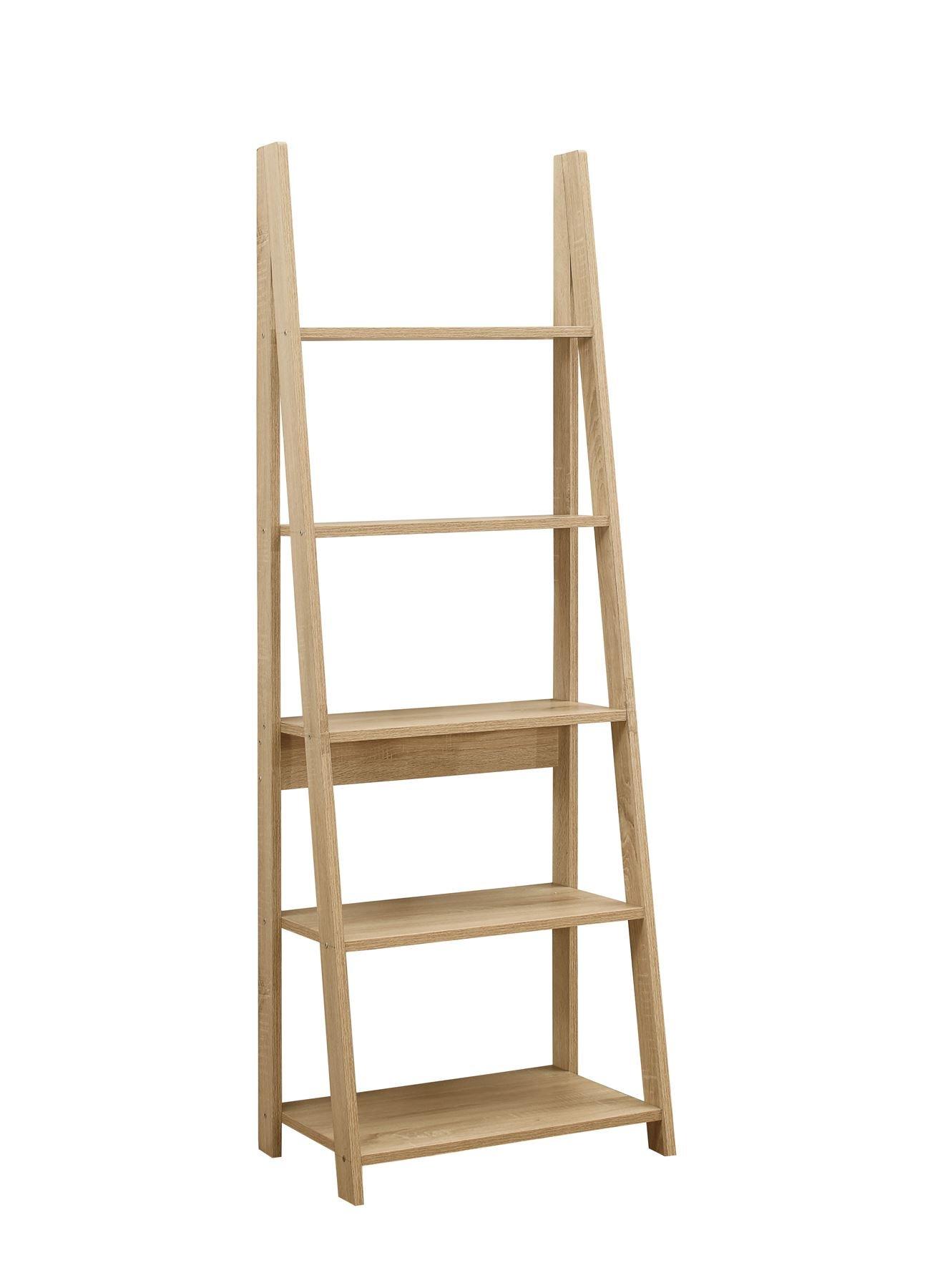 61XX3GXOLjL - Birlea, Dayton, Ladder Bookcase, Wood, Oak, One Size