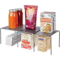 mDesign étagère de cuisine – égouttoir pratique en métal pour plus d'espace de rangement – étagère cuisine télescopique…