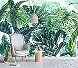 (140X70CM), alte Zeitung 3D tapete - Nordic minimalistischen tropischen handbemalte Bananenblätter Wohnzimmer - Wallpaper Poster Wanddekoration von Bestwind