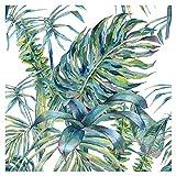 murando - Vlies Tapete Tropische Blätter Monstera - Deko Panel Fototapete Wandtapete Wand Deko 10 m Tapetenrolle Mustertapete Wandtapete modern design Dekoration - grün weiß b-A-0369-j-a