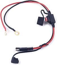 CITALL 10A Motorrad Wasserdicht SAE Anschlusskabel Adapter Batterie Ladekabel Inline Sicherung