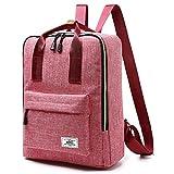 R205 15.6inch Computer Bag Casual Unisex Waterproof Oxford School Backpack Women/Men School Backpack Rucksack (Pink)
