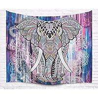 """A.Monamour Tapices Indio Hippie Mandala Animales Patrón Tribu Elefante Tatuaje Impresión Tapices Tapiz Temática De Poliéster Tejido Decoraciones Para Los Dormitorios Colchas 153x102cm / 60""""x40"""""""