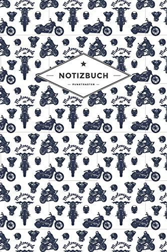 Club-cover-set (Notizbuch Punktraster: Für Motorradfahrer und Bikerinnen | 120 Seiten | Soft Cover | Motiv: Motorcycle Club)
