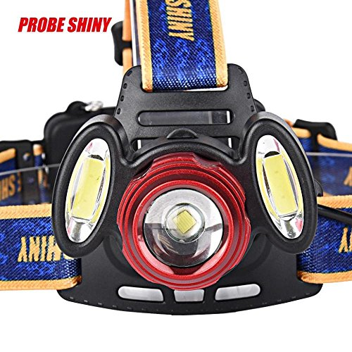 LILICAT 15000Lm 3x XML T6 Rechargeable HeadLight Headlamp Torch USB Lamp+18650+Charger
