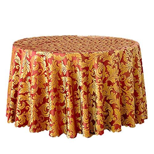 LULU LLH Hotel Tischdecke Europäischen Restaurant Cafe Tischdecke Konferenztischdecke Polyestergewebe Runde Durchmesser 70,86 Zoll ZHUOB (Farbe : Weinrot)