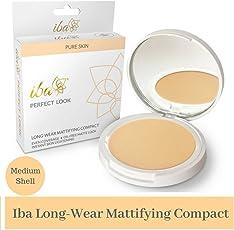 Iba Halal Care Perfect Look Long Wear Mattifying Compact, 02 Medium Shell, 9g