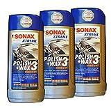 6 x SONAX Xtreme Polish+Wax 3 500 ml, Lack-Politur, Auto-Wachs, Kfz-Pflege