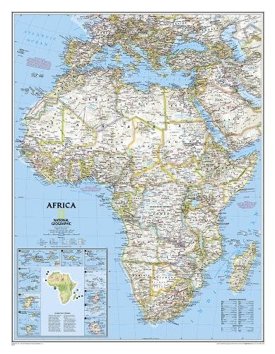 Africa Classic [Enlarged and Tubed]: NG.PC620052 (National Geographic Reference Map)