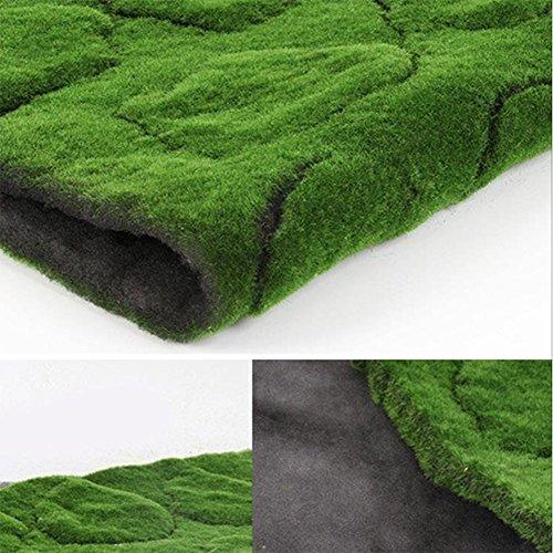 ZENGAI tappeto Tavolino Prato, verde parete piante verde muschio, erba sintetica vetrina scena verde muschio finto ( dimensioni : F-100*100cm )