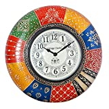 Vintage Clock Hand-Painted Pine Wood Clo...