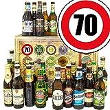 Geschenkideen für Männer zum 70. + Geschenk Box mit 24 Bieren der Welt und Deutschland + GRATIS Geschenk Karten + Bier-Bewertungsbogen + Bierset + Biergeschenk + Personalisierte Geschenk Box - 70 + Biergeschenk für Männer. Besser als Bier selber machen oder selbst brauen. Geburtstagsgeschenk GeburtstagsBiergeschenke 70. Geburtstag Geschenkideen Geburtstag Geschenk Ideen 70 Geburtstagsgeschenke Biergeschenke 70 Geburtstag Geschenkidee Freund zum 70.