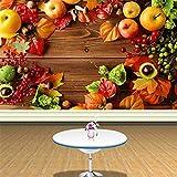 Benutzerdefinierte Fototapete Land Stil Frisches Obst Hintergrund Wand Supermarkt Obst Shop Wohnzimmer Dekoration Tapete Wandbild 8D 300x200cm