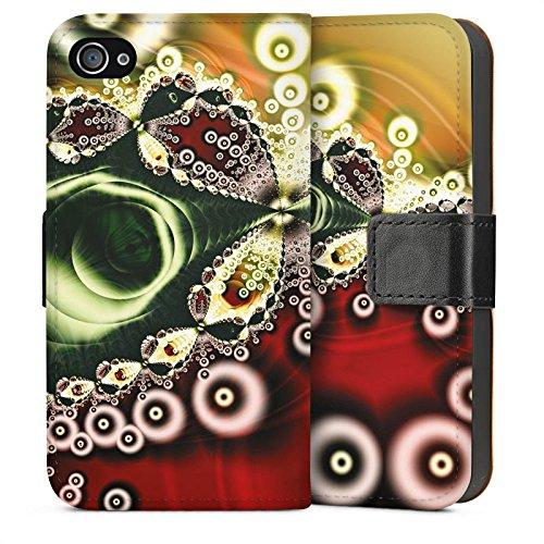 Apple iPhone 4 Housse Étui Silicone Coque Protection Motif Motif Vintage Rétro Collection Sideflip Sac