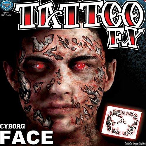 Tinsley Transfers Cyborg Face Temporary Tattoo FX Face Kit by Tinsley Transfers